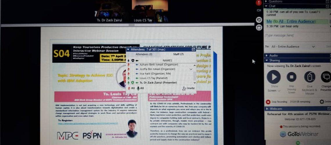 FINALISING THE PREPARATION FOR 4TH PSPN WEBINAR SERIES